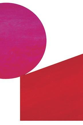 Ausschnitt aus: Rupprecht Geiger, Pinc contra Orange, 2005 (WV 942), Acryl auf Leinwand, 275 x 470 cm