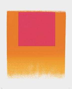 Rupprecht Geiger,leuchtrot orange – leuchtrot warm, 1965 (WVG 79)