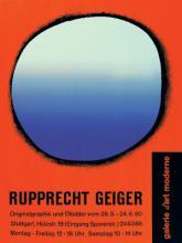 Rupprecht Geiger, Originalgraphik und Ölbilder, Galerie d'art moderne, Stuttgart (28.5.–24.6.1960)