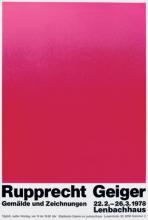 Rupprecht Geiger, Gemälde und Zeichnungen, Städtische Galerie im Lenbachhaus, München (22.2.–26.3.1978)