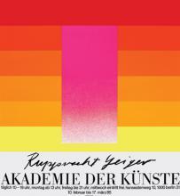 Rupprecht Geiger, Retrospektive, Akademie der Künste, Berlin (10.2.–17.3.1985)