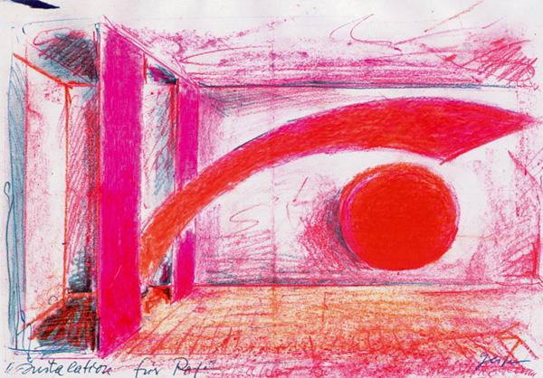 Farbraum Installation für Rot