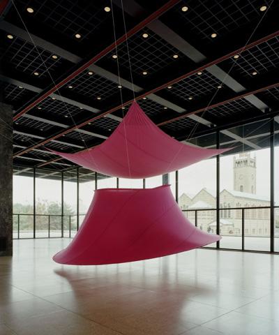 Rote Trombe, eine Gemeinschaftsarbeit Rupprecht Geiger/Florian Geiger